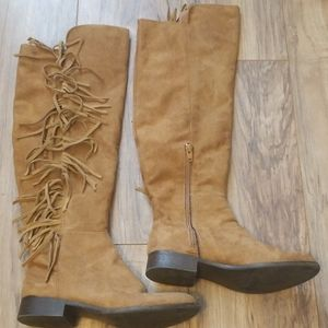 Mossimo Knee High Fringe Boots
